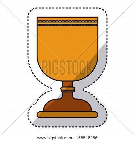 Cup icon. Religion god pray faith and believe theme. Isolated design. Vector illustration