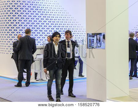 St. Petersburg, Russia - 5 October, Visitors to the gas forum, 5 October, 2016. Petersburg Gas Forum which takes place in Expoforum.