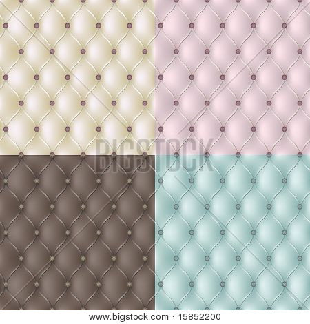 Set genuine leather texture. Vector