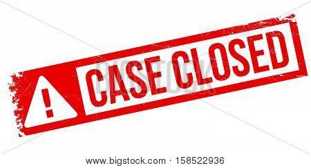 Case Closed Stamp