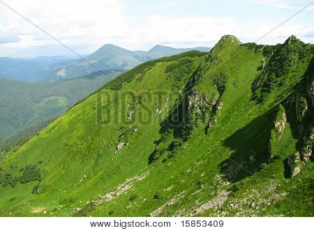view of Carpathian mountain