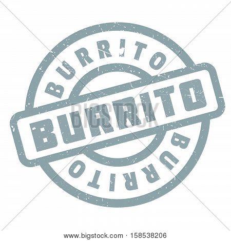 Burrito Rubber Stamp