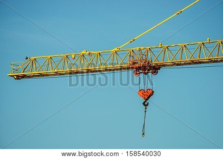 the crane jib close-up the crane jib