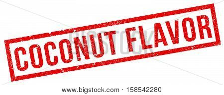 Coconut Flavor Rubber Stamp