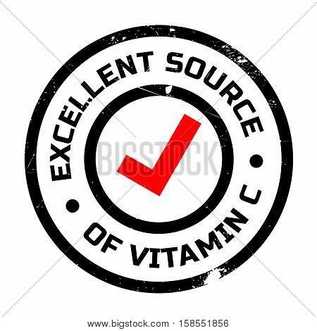 Excellent Source Of Vitamin C Stamp