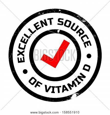 Excellent Source Of Vitamin D Stamp