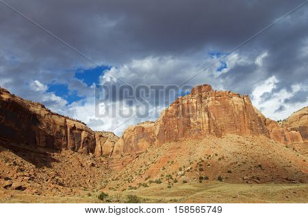 Hills in Indian Creek, near Canyonlands, Utah, USA.