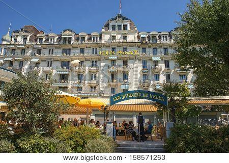 Montreux, Switzerland - September 02: Luxury hotel