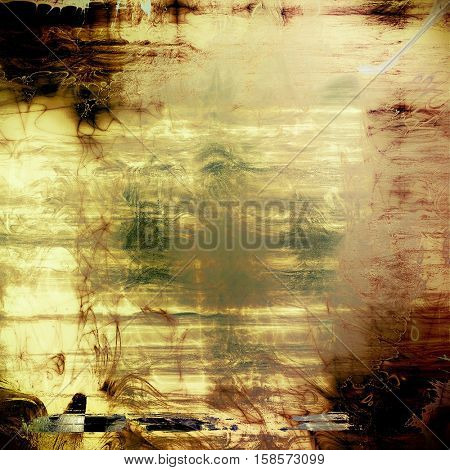 Old grunge vintage background or shabby texture with different color patterns: yellow (beige); brown; gray; green; black