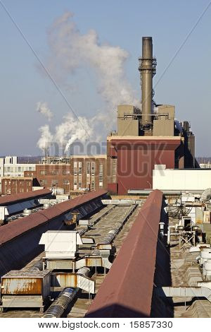 Factory In Downtown Of Indianapolis