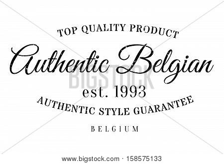 Authentic Belgian Product Stamp