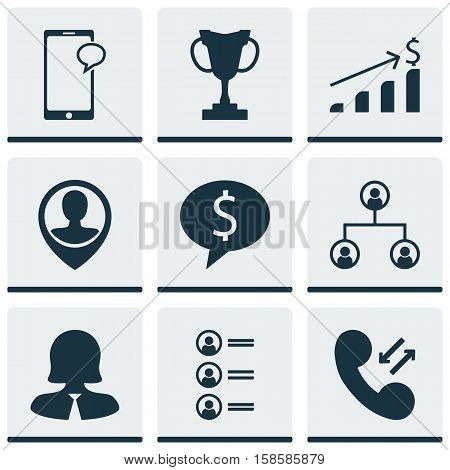 Set Of Hr Icons On Business Woman, Job Applicants And Tree Structure Topics. Editable Vector Illustration. Includes Male, Job, Tree And More Vector Icons.