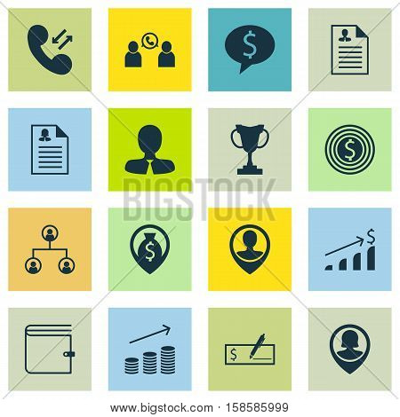 Set Of Human Resources Icons On Business Goal, Cellular Data And Employee Location Topics. Editable Vector Illustration. Includes Tree, Opinion, Growth And More Vector Icons.