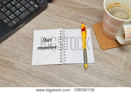 Open notebook with Text