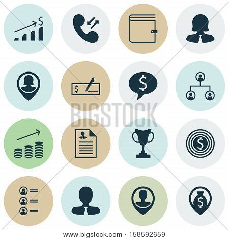 Set Of Human Resources Icons On Wallet, Tree Structure And Job Applicants Topics. Editable Vector Illustration. Includes Pin, Bank, Phone And More Vector Icons.