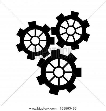 silhouette gear wheel engine cog icon vector illustration eps 10