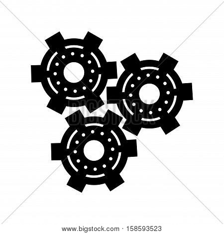 silhouette set gear wheel engine cog icon vector illustration eps 10