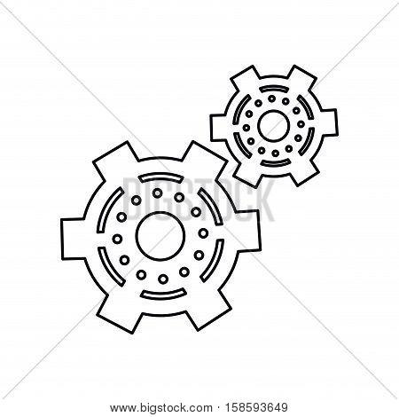pictogram two gear wheel engine cog icon vector illustration eps 10