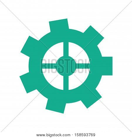 green gear wheel engine cog icon vector illustration eps 10