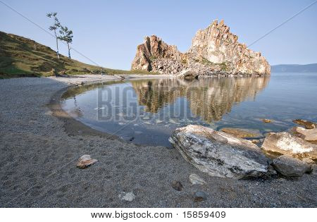 Cape Burkhan, island Olkhon, Lake Baikal. Buryat Republic. Russia.