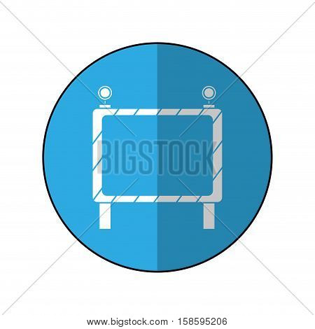 barricade safety maintenance work-blue circle shadow vector illustration eps 10