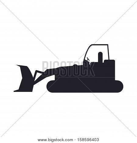 bulldozer truck construction sign vector illustration eps 10