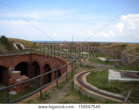 Ramparts of Fort Massachusetts, Ship Island, Gulf Islands National Seashore, Mississippi