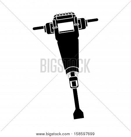jackhammer construction tool design pictogram vector illustration eps 10