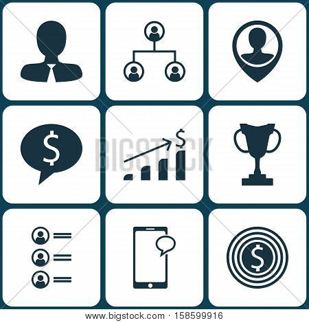 Set Of Human Resources Icons On Job Applicants, Business Deal And Business Goal Topics. Editable Vector Illustration. Includes Increase, Profile, Male And More Vector Icons.