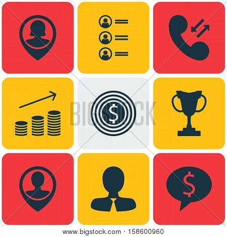 Set Of Management Icons On Pin Employee, Business Deal And Job Applicants Topics. Editable Vector Illustration. Includes Prize, Job, Profile And More Vector Icons.