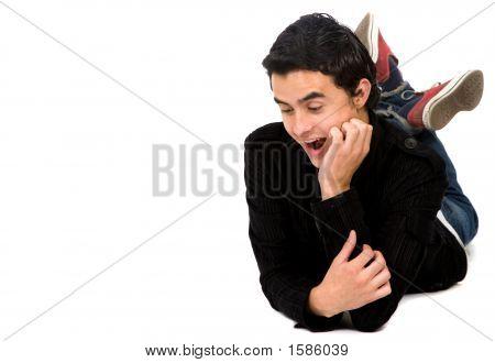 Surprised Guy On The Floor