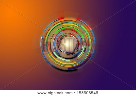 Hi-tech background design. Circle technology of power concept. Abstract future digital science technology concept.