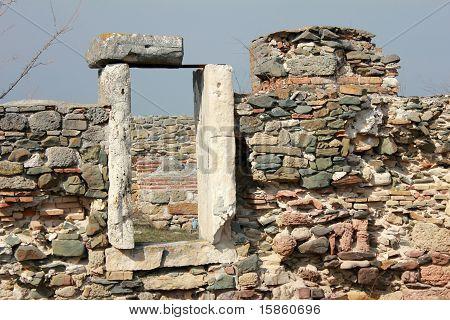 Roman ruins  - house door