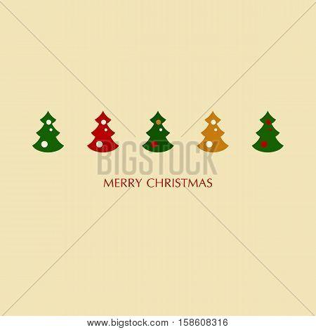 Stock vector illustration of christmas trees set
