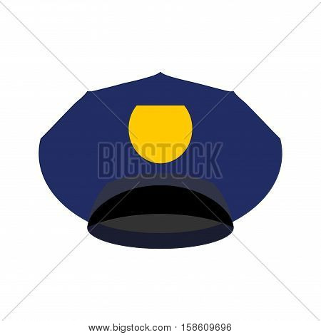 Police Cap Isolated. Hat Cop Officer. Accessory Policeman