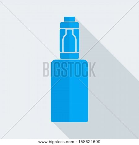 Blue emblem Electronic Cigarette style flat design