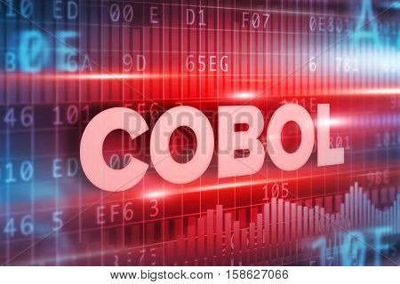 Cobol abstract concept blue text on blue background