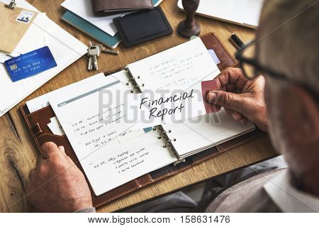 Financial Daily Report Business Strategy Minutes Concept