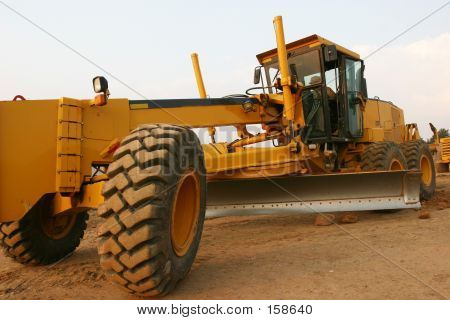 Grader Road Construction