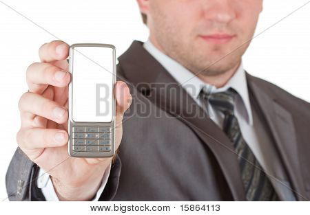 Phone In Businessman Hand