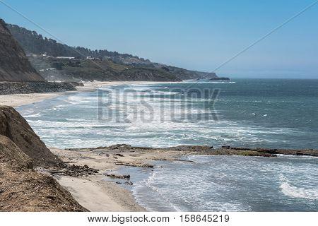 Beaches along the coast south of San Francisco, California