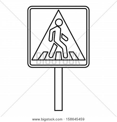 Pedestrian traffic sign icon. Outline illustration of pedestrian traffic sign vector icon for web