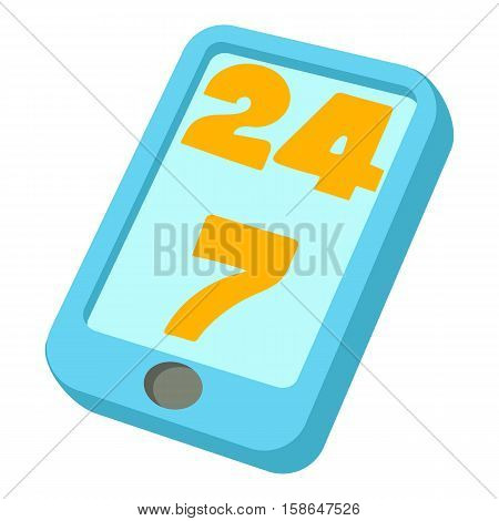 24 hours call center icon. Cartoon illustration of 24 hours call center vector icon for web