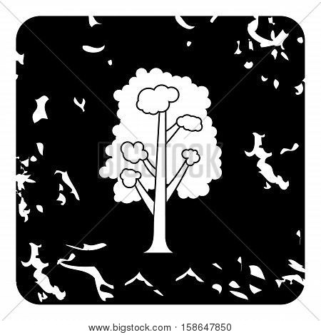 Linden tree icon. Grunge illustration of linden tree vector icon for web design