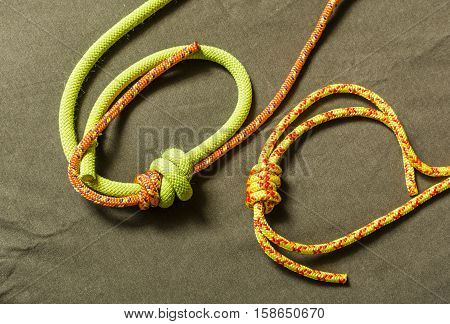 Double Fishermans Knot.