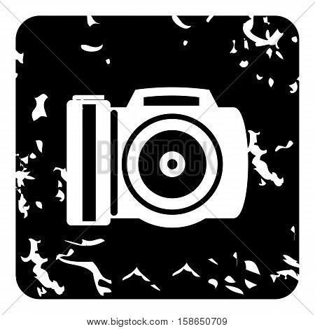 Camera icon. Grunge illustration of camera vector icon for web design