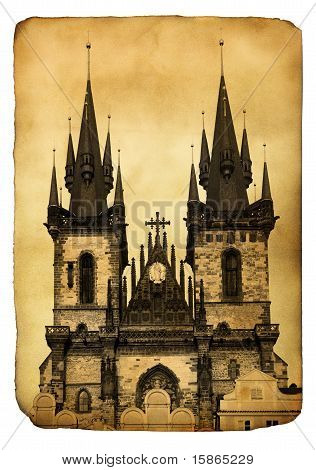 Vintage Postcard -  Prague