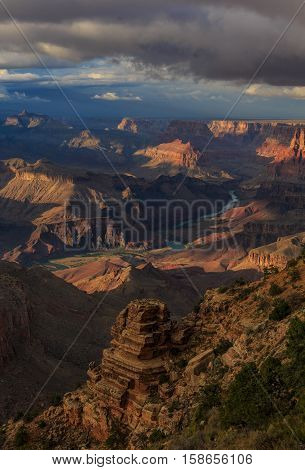 Impressive Landscape Of Grand Canyon From North Rim; Arizona; United States