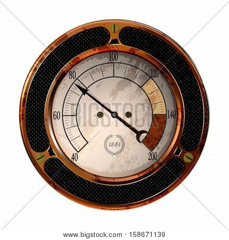 Ancient measuring device in the style of steampunk