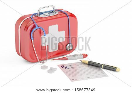 First Medical Aid and Treatment concept 3D rendering